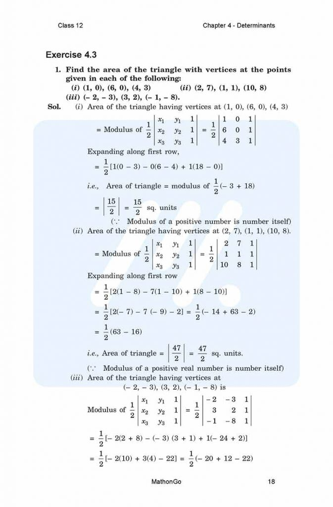 Chapter 4 - Determinants