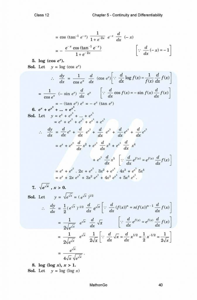 Chapter 5 - Continuity and Differentiability