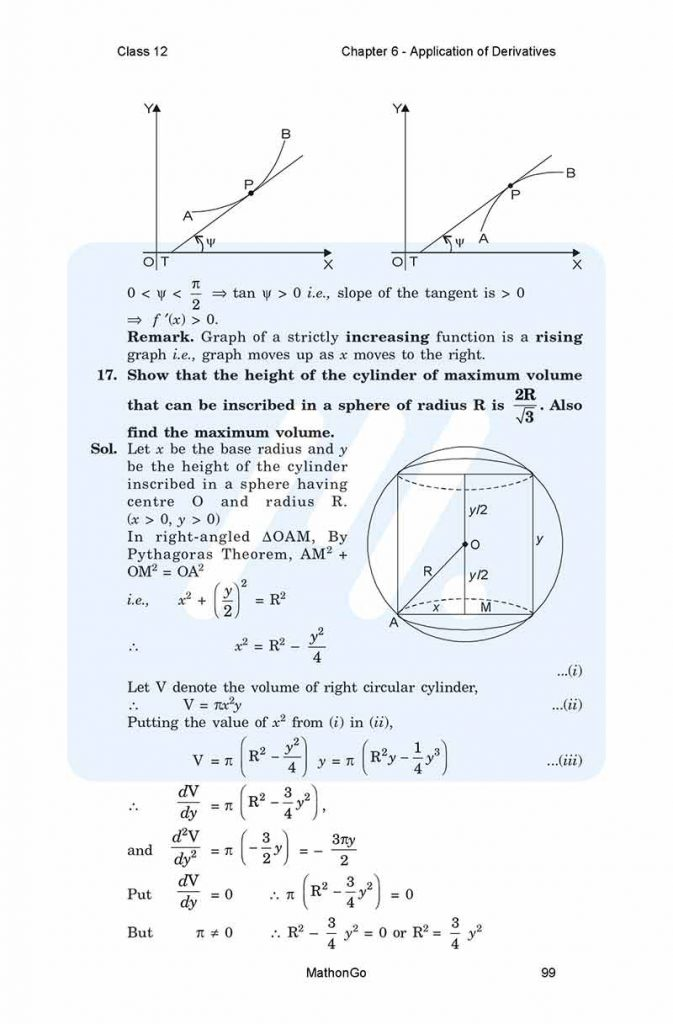 Chapter 6 - Application of Derivatives