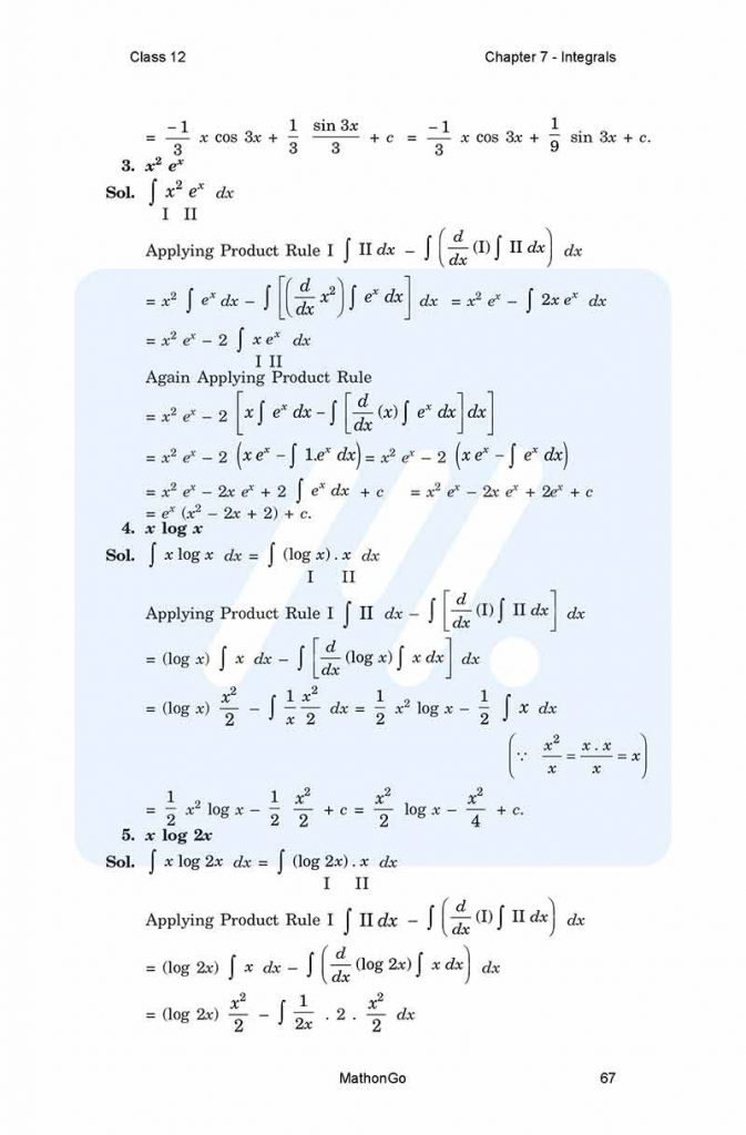 NCERT Solutions for Class 12 Maths Chapter 7 Exercise(Ex) 7 6