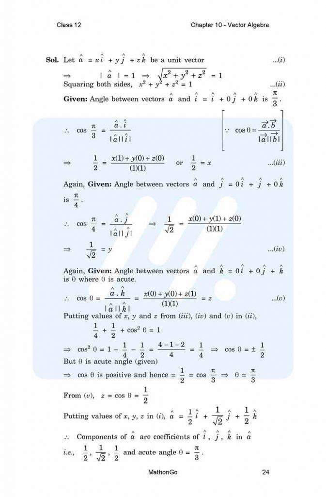 Chapter 10 - Vector Algebra