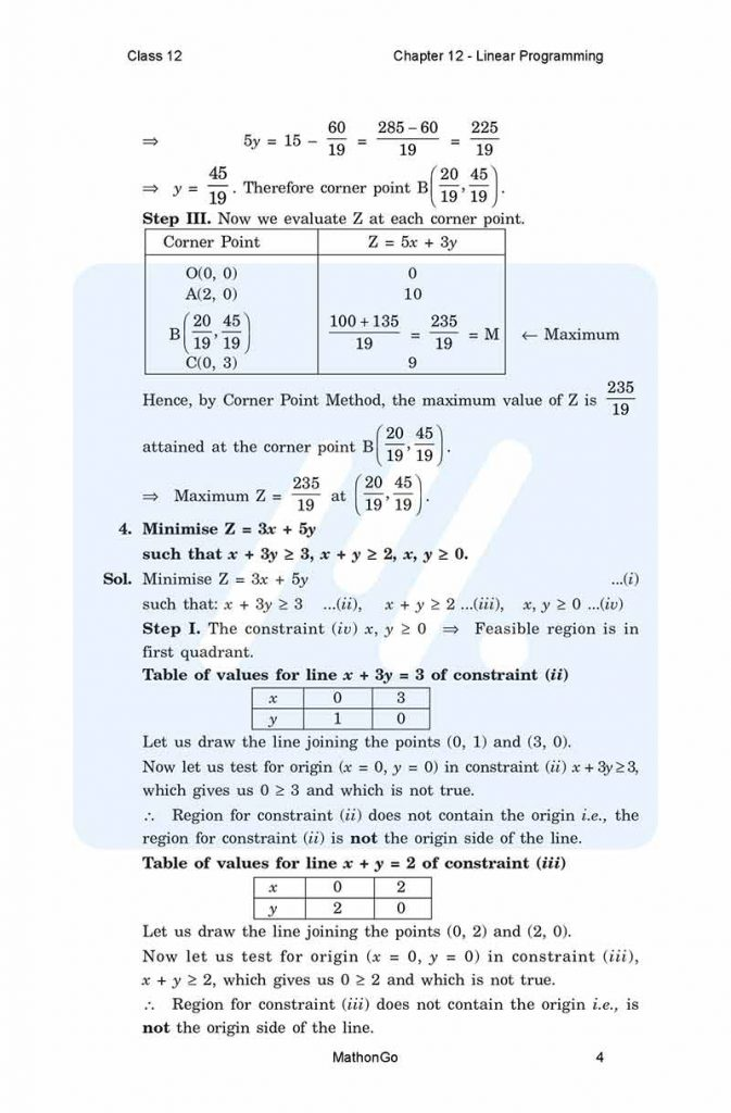 Chapter 12 - Linear Programming
