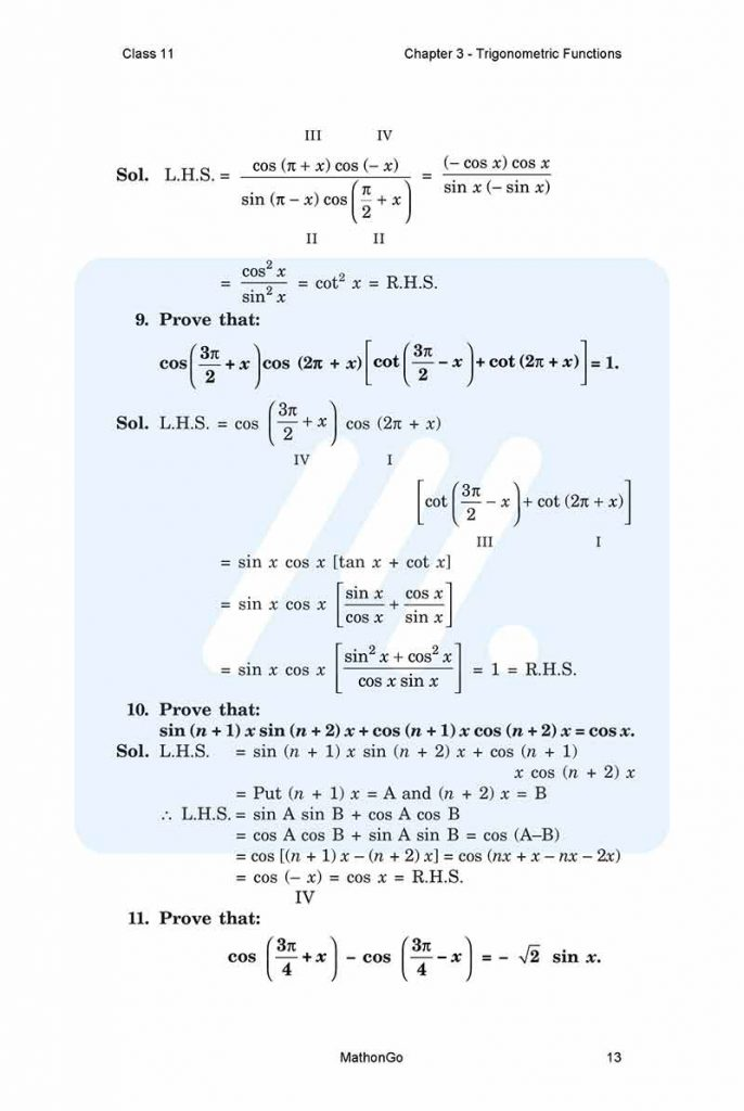 Chapter 3 - Trigonometric Functions