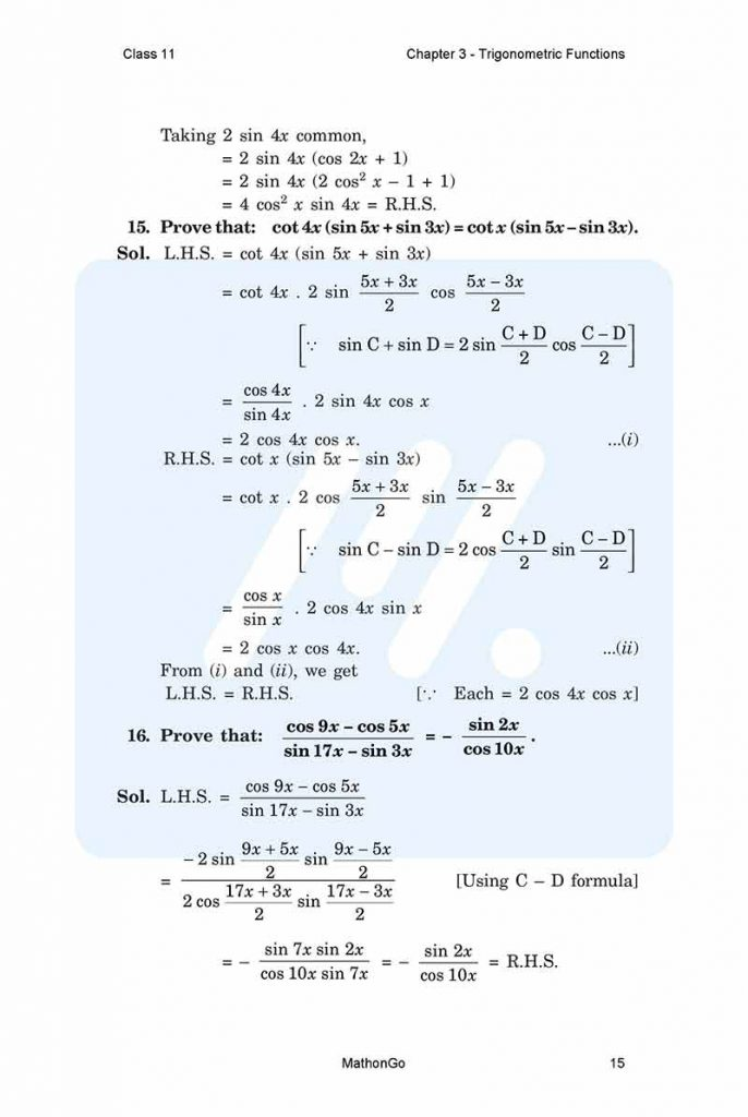 Chapter 3 - Trigonometric Functions