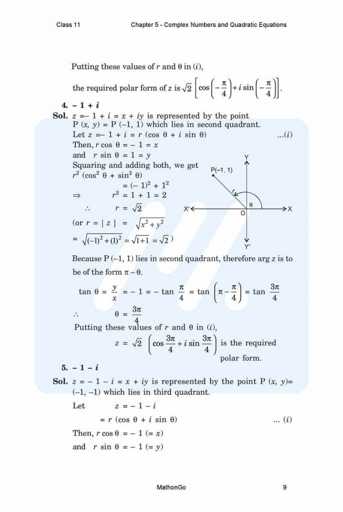 Chapter 5 - Complex Numbers and Quadratic Equations