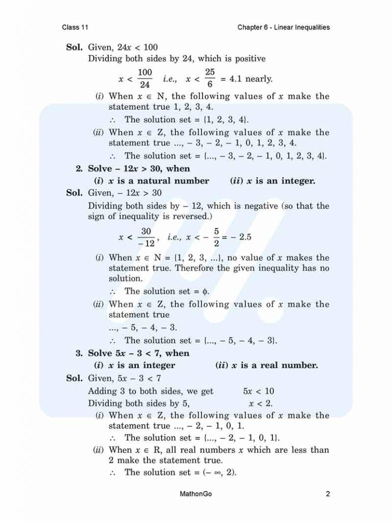 Chapter 6 - Linear Inequalities
