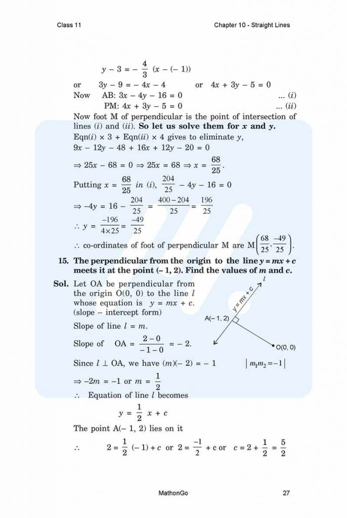 Chapter 10 - Straight Lines
