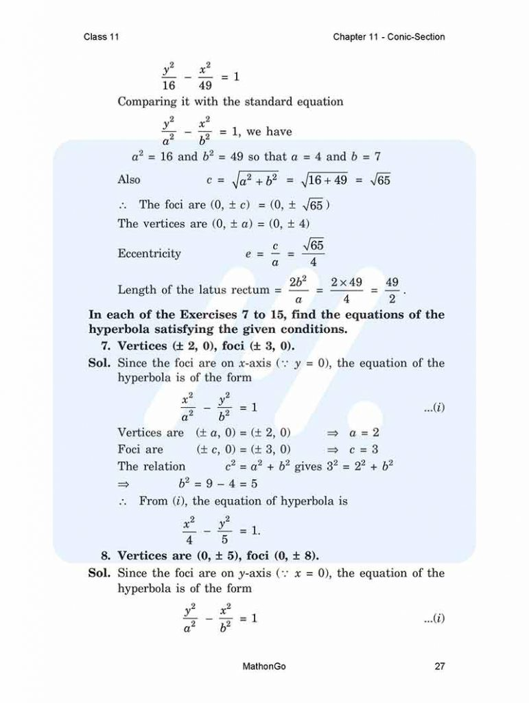 Chapter 11 - Conic Section