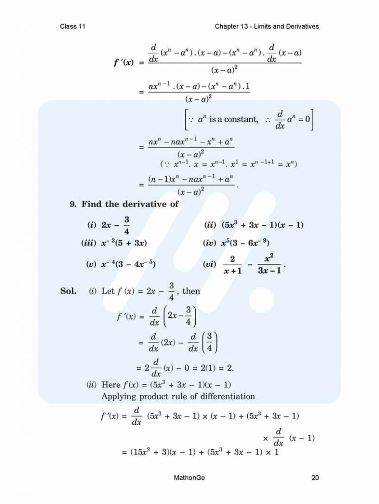 Chapter 13 - Limits and Derivatives