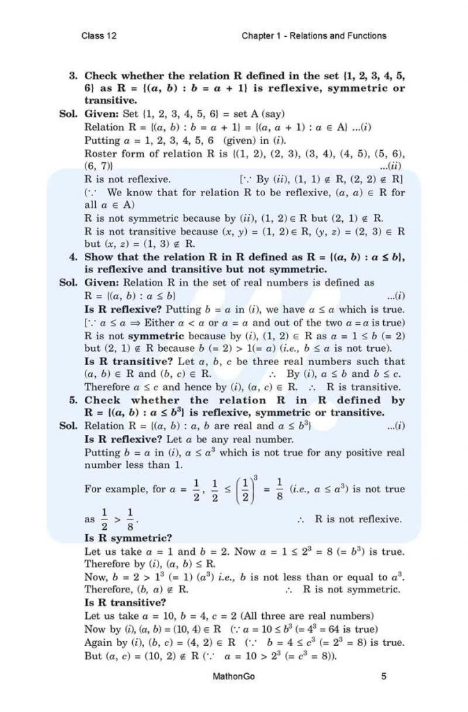 Chapter 1 - Relations and Functions