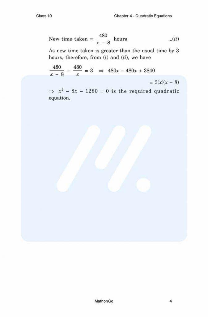 Chapter 4 - Quadratic Equations
