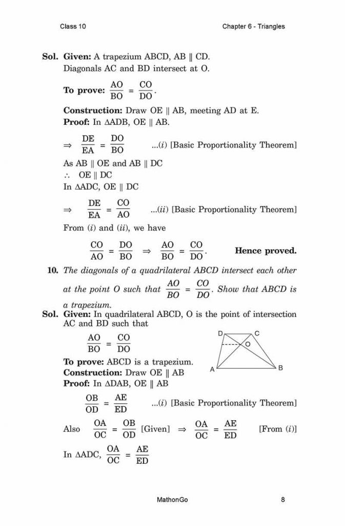 Chapter 6 - Triangles