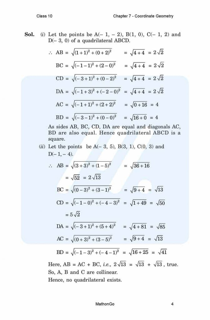 Chapter 7 - Coordinate Geometry