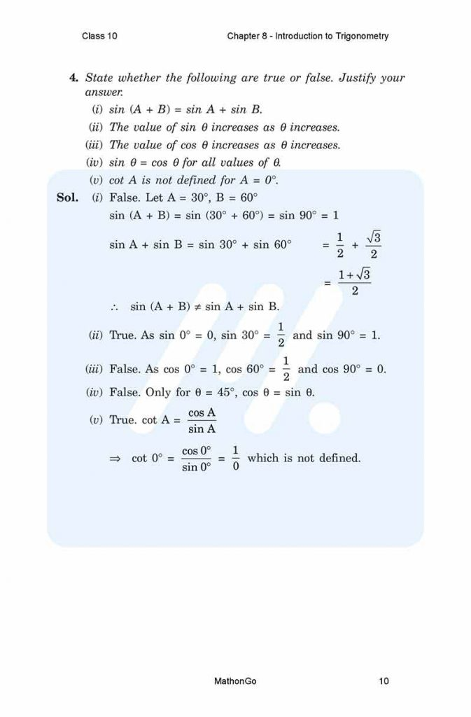 Chapter 8 - Introduction to Trigonometry