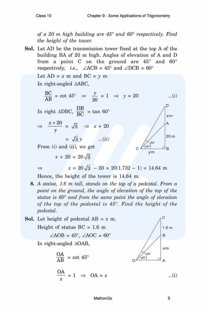 Chapter 9 - Some Applications of Trigonometry