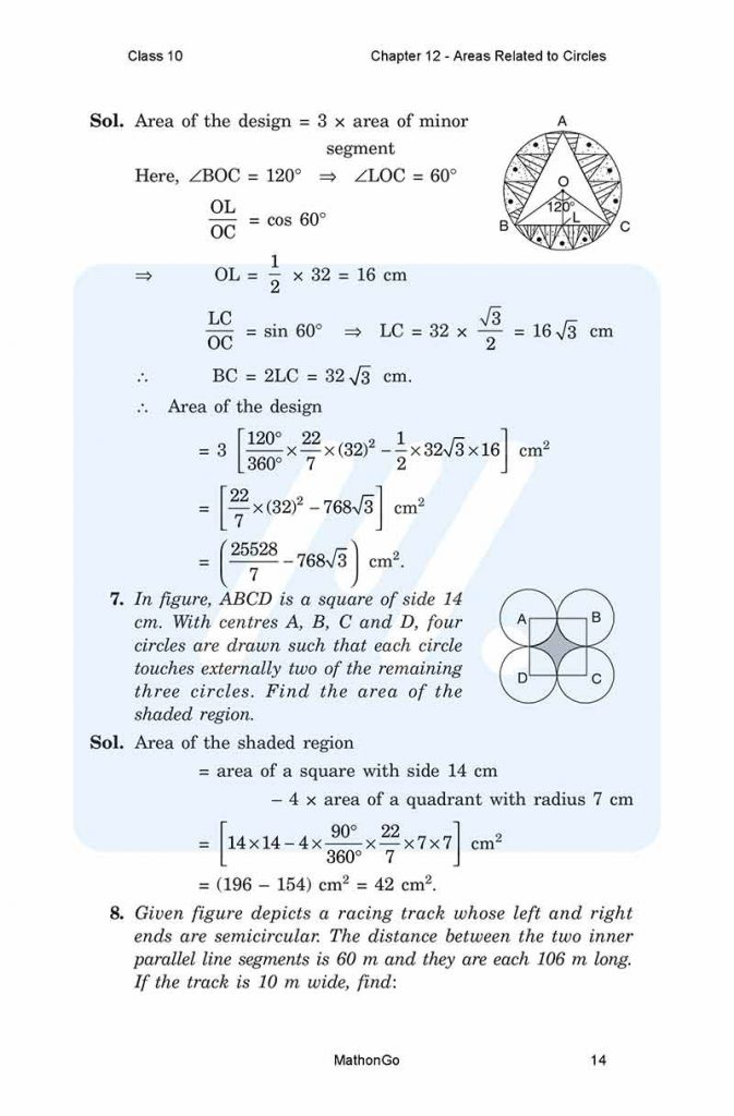 Chapter 12 - Areas Related to Circles