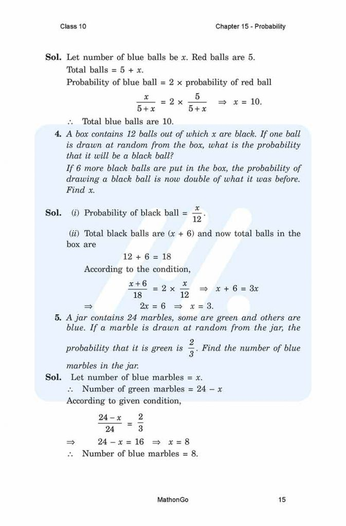 Chapter 15 - Probability