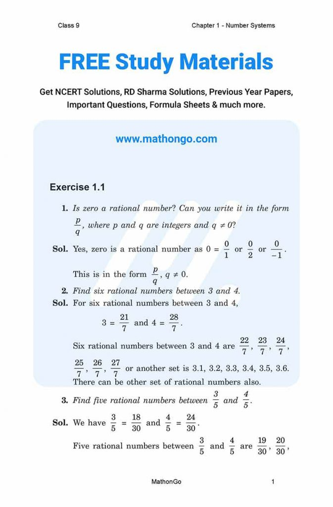 Chapter 1 - Number Systems