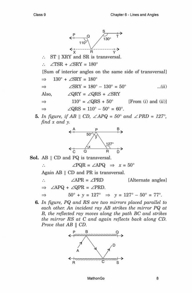 Chapter 6 - Lines and Angles