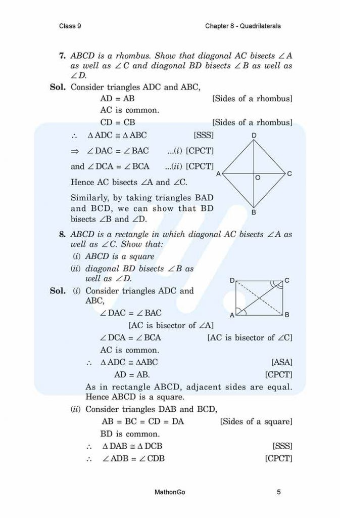 Chapter 8 - Quadrilaterals