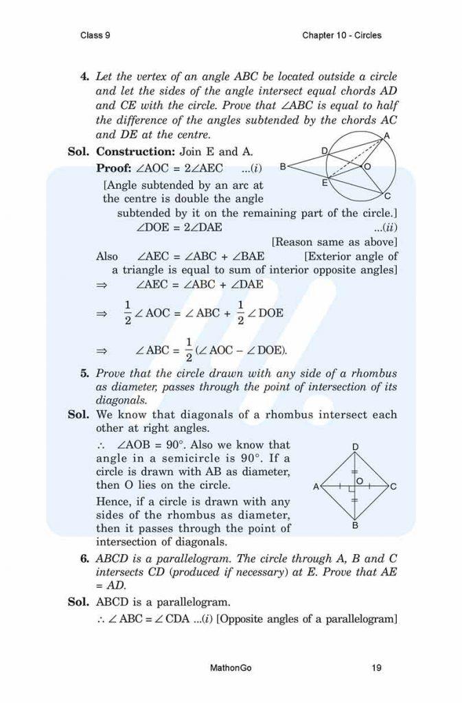 Chapter 10 - Circles