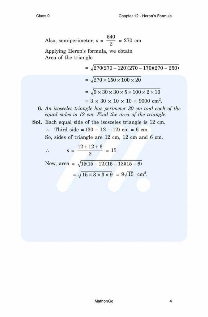 Chapter 12 - Heron's Formula