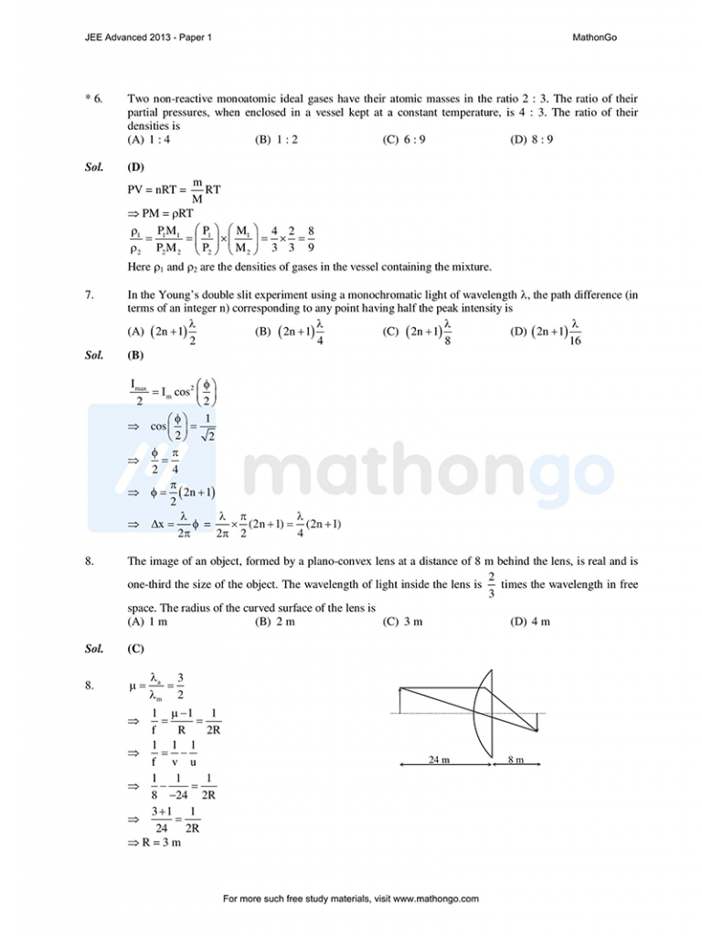 JEE Advanced 2013 Paper 1