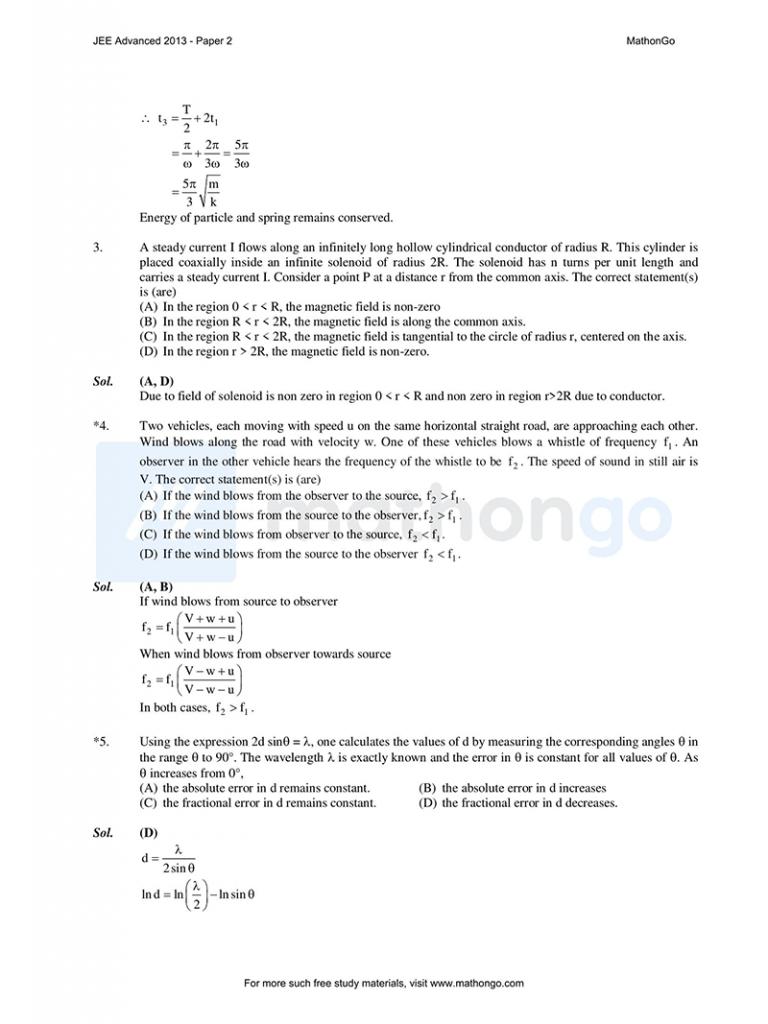 JEE Advanced 2013 Paper 2