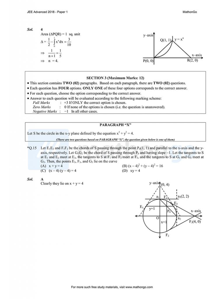 JEE Advanced 2018 Paper 1